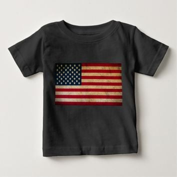 Vintage American Flag Baby Fine Jersey T-Shirt