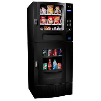 SEAGA SM23B SNAK MART AUTOMATIC SNACK & DRINK COMBO VENDING MACHINE BLACK