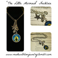 The Little Mermaid Themed Charm Necklace