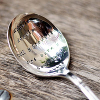 HALLOWEEN - upcycled spoon, silver plated, recycled, hand-stamped