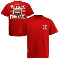 North Carolina State Wolfpack 2014 Football Schedule T-Shirt - Red