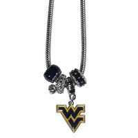 West Virginia Mountaineers Necklace - Euro Bead