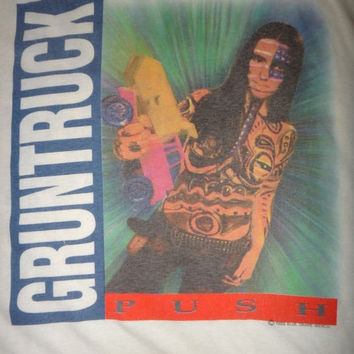 15% OFF Sale Rare Vintage GRUNTRUCK Push 1992 T Shirt Nirvana Seattle Grunge