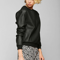 Sparkle & Fade Vegan Leather Sweatshirt - Urban Outfitters