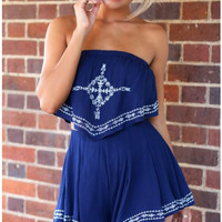 CUTE TWO PIECE ROMPER ANCHOR HIGH QUALITY