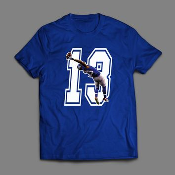 "GIANTS ODELL BECKHAM JR ""13 THE CATCH"" ART T-SHIRT"