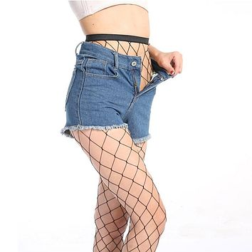 LOEEL Hollow Out Sexy Pantyhose Women Tights Black Fishnet Stockings Club Party Hosiery Female Mesh Stocking 2017 Hot