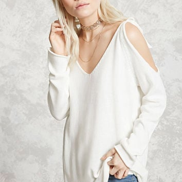 Open-Shoulder Sweater