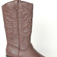 Tall Western Boot with Stitching
