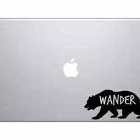 Wander Grizzly Bear Macbook Pro Air Sticker Decal Skin Laptop Decal iPad Sticker