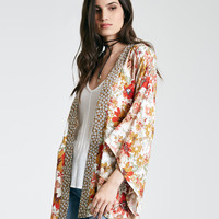 Mixed Floral Kimono With Tie Waist | Wet Seal