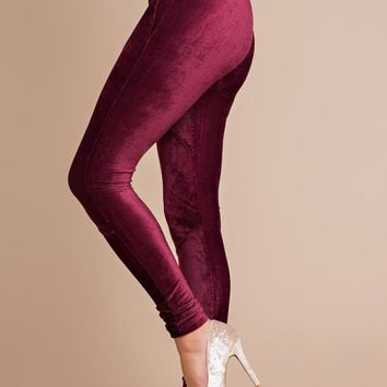 Forever Mine Velvet Leggings (Burgundy)