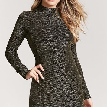 Lurex Mock Neck Dress