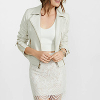 Ivory Floral Lace Mini Skirt