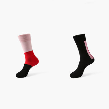Monochromatic Color 2 Sock Set (Red & Pink)