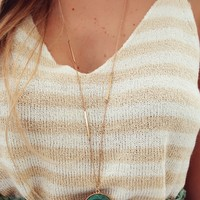 A Long Lost Love Necklace: Gold/Green
