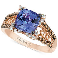 Le Vian 14k Rose Gold Ring, Tanzanite (2 ct. t.w.) and Diamond (3/8 ct. t.w.) Ring - Rings - Jewelry & Watches - Macy's