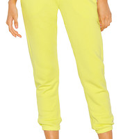 NSF Sayde Slouchy Sweatpant in Limade | REVOLVE