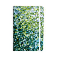 "Ebi Emporium ""Frosted Feathers 3"" Green Yellow Everything Notebook"