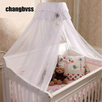 Beautiful Bed Canopy Baby Todder Crib,White Pink Yellow Netting Curtain Dome Mosquito Net,New Baby Infant Bed Canopy Insect Net