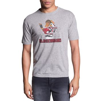 Chicago Blackhawks - Logo Brass Tacks Soft T-Shirt