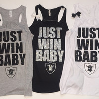 Just Win Baby - Raiders Tank - Ruffles with Love