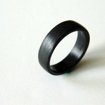 Carbon Fiber ring natural finish