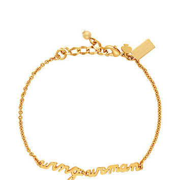 Kate Spade Say Yes Wing Woman Bracelet Gold ONE