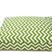 One Kings Lane - It's a Dog's Life - Zig Zag Dog Bed, Green