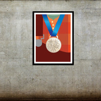 Wreck-It Ralph Hero Medal Movie Poster