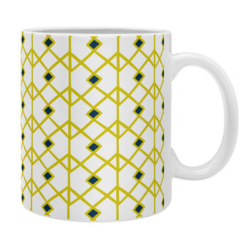 Heather Dutton Annika Diamond Citron Coffee Mug