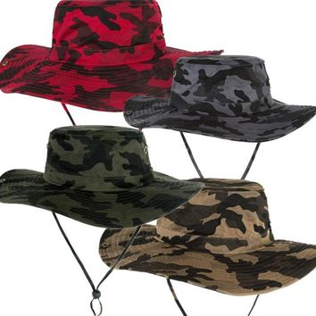 Military Camouflage Bucket Hats Fishing Fisherman Hunting Men Adult Safari Sun Protection Hunter Mountain Cap