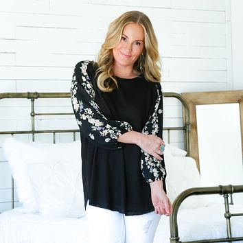 Janice Floral Sleeve Top