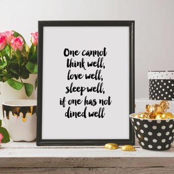 Kitchen poster Kitchen quote Funny poster Inspirational quote Printable quotes Instant download Motivational art Funny print Wall artwork