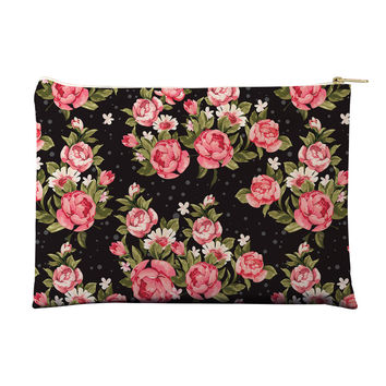 Roses on Black Pouch