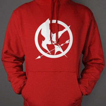 Hunger Games Hoodie - Red Mockingjay Sweatshirt