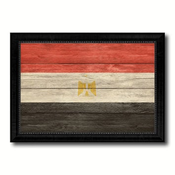 Egypt Country Flag Texture Canvas Print with Black Picture Frame Home Decor Wall Art Decoration Collection Gift Ideas
