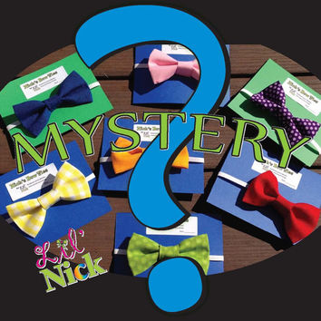Mystery Bow Tie - Mystery hair bow - pretied bow tie - infant, toddler, child, adult