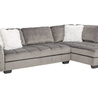 Largo Drive Gray 2 Pc Sectional - Living Room Sets (Gray)