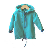 Kids jacket turquise unisex, eco cotton kids hoodie blue, unisex kids jacket, toddler jacket, boys hoodie