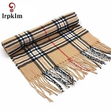 Winter Brand Cashmere Scarf Women Blanket Scarf Plaid Wraps long Scarf 2016 Pashmina Cashmere Shawls And Scarves Tassel WJ14