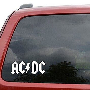 ACDC Rock Band Style 01 Car Window Decal Sticker