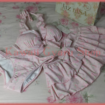 Liz Lisa 3 Piece Swimsuit / Bathing Suit (NwT) from Kawaii Gyaru Shop