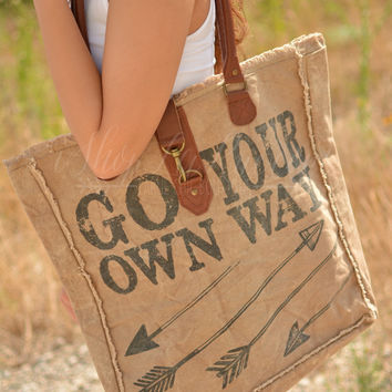 Go Your Own Way Canvas Bag