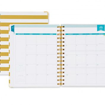 Day Designer Gold Stripe Weekly/Monthly 6 x 8 Planner July 2015 - June 2016