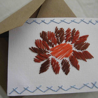 HandEmbroidered Puebla Notecard Blank by TheHoneyShack on Etsy