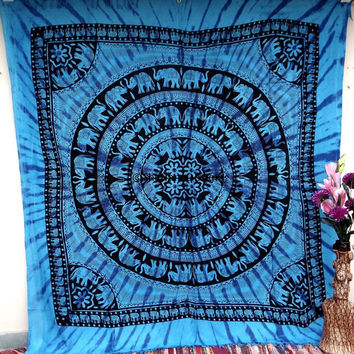 Elephant Deer Wall Tapestries, Tapestry Wall Hanging, Hippie Tapestry, Bohemian Tapestries, Dorm Decor, Indian Tapestry, Beach Sheet