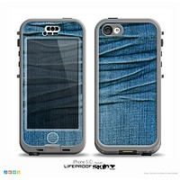 The Wrinkled Jean texture Skin for the iPhone 5c nüüd LifeProof Case