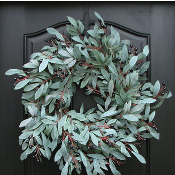 SUPER SALE on NOW Peace On Earth, Year Round Wreath, Olive Branches, Peace On Earth Wreath, New Year Wreath, Olive Branch Wreath, Winter Wre