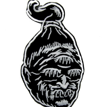 Headhunter Shrunken Head Patch Iron on Applique Alternative Clothing